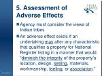 5 assessment of adverse effects
