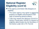national register eligibility cont d