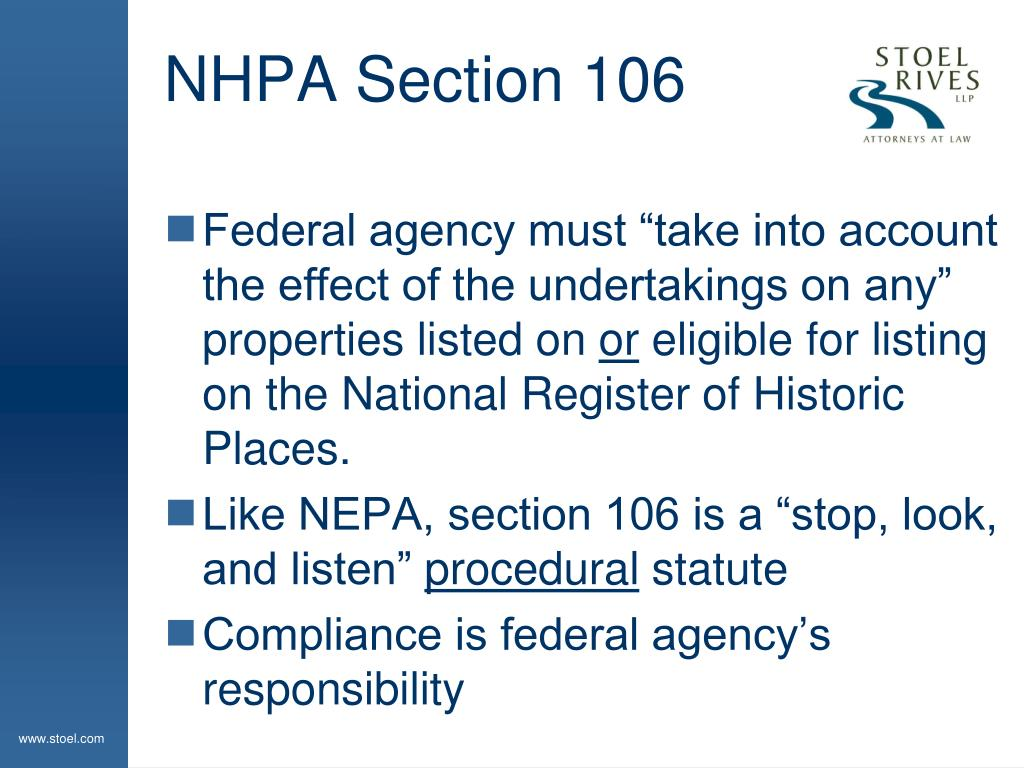 NHPA Section 106