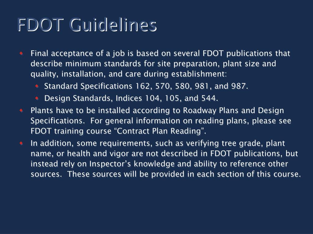FDOT Guidelines