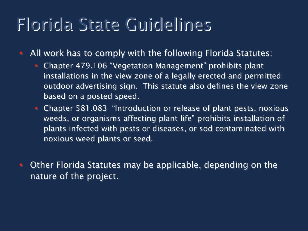 Florida State Guidelines