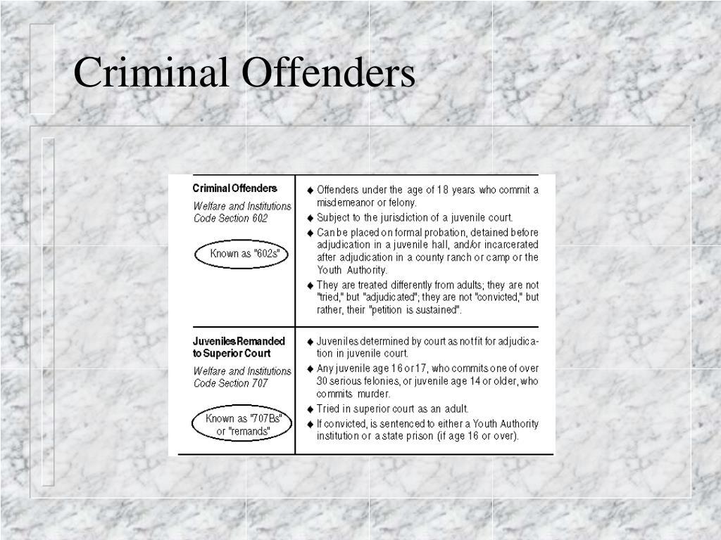 Criminal Offenders