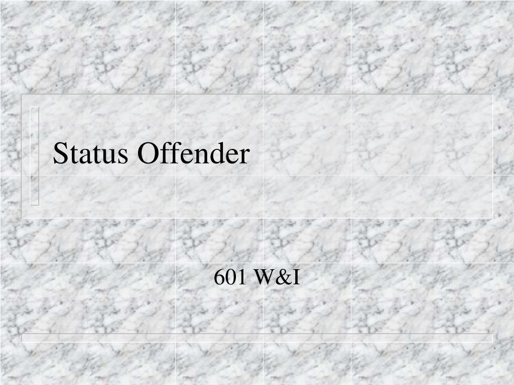 Status Offender