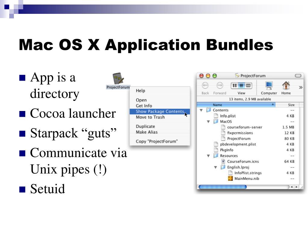 Mac OS X Application Bundles