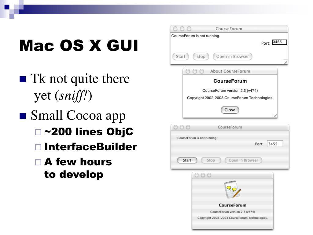 Mac OS X GUI