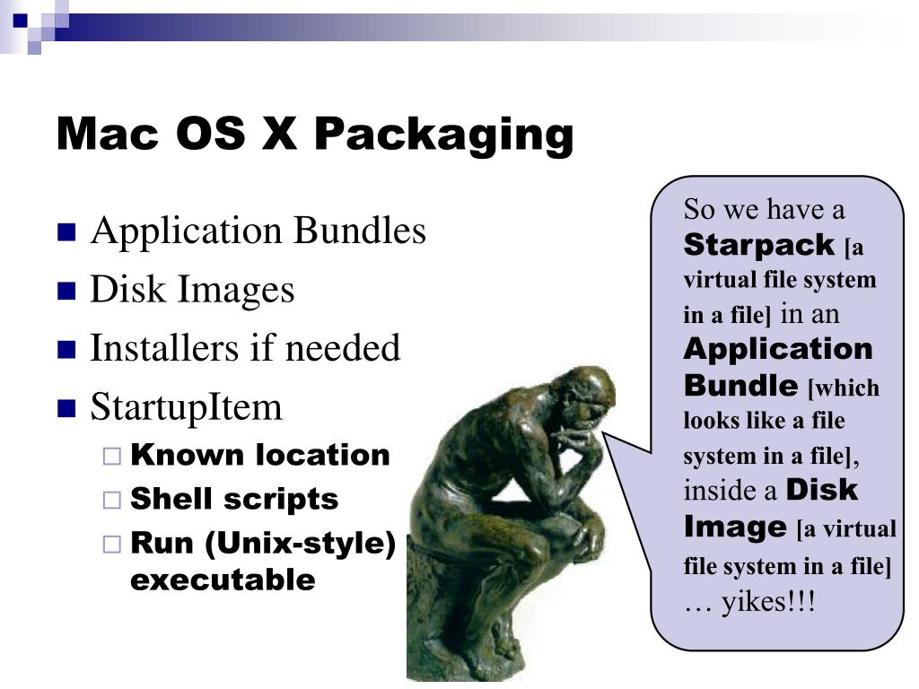Mac OS X Packaging