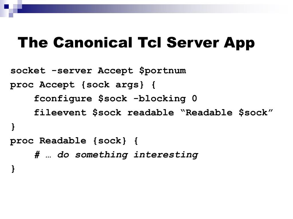 The Canonical Tcl Server App