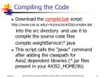 compiling the code