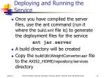 deploying and running the service
