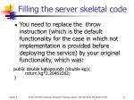 filling the server skeletal code10
