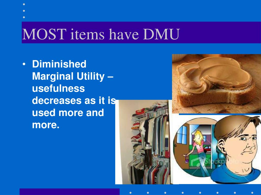 MOST items have DMU