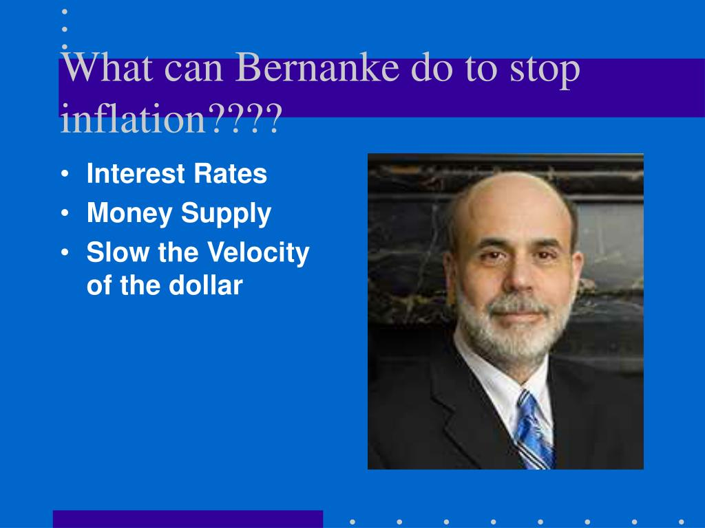 What can Bernanke do to stop inflation????