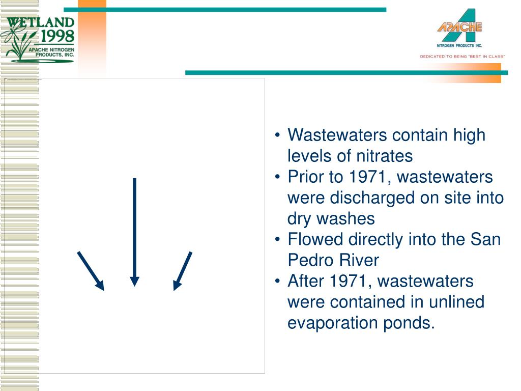 Wastewaters contain high levels of nitrates