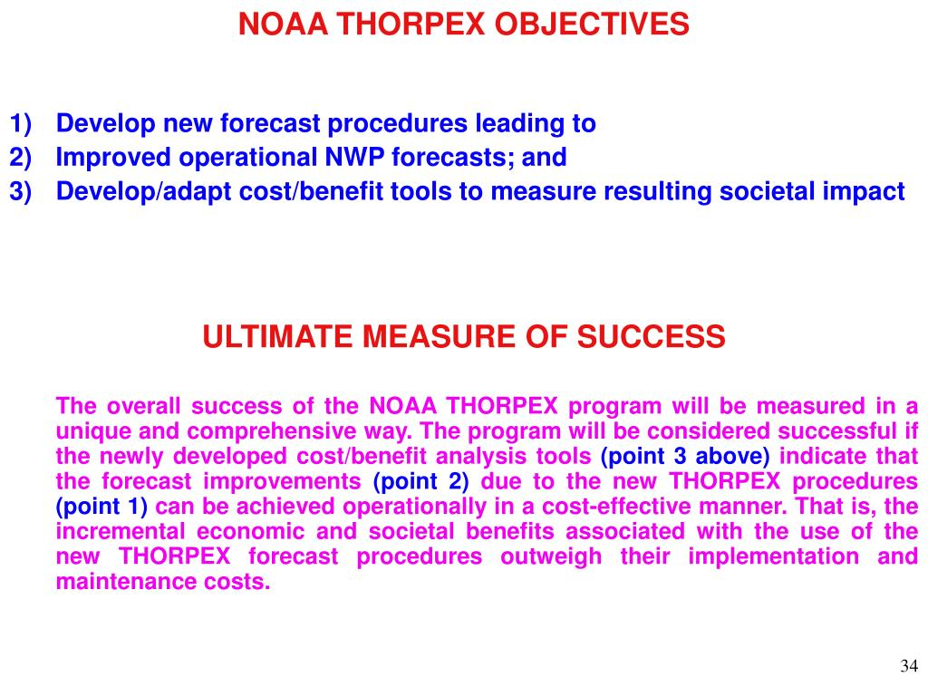 NOAA THORPEX OBJECTIVES