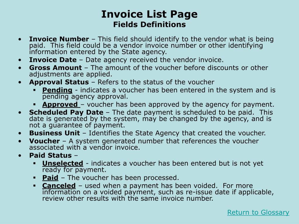 Invoice List Page