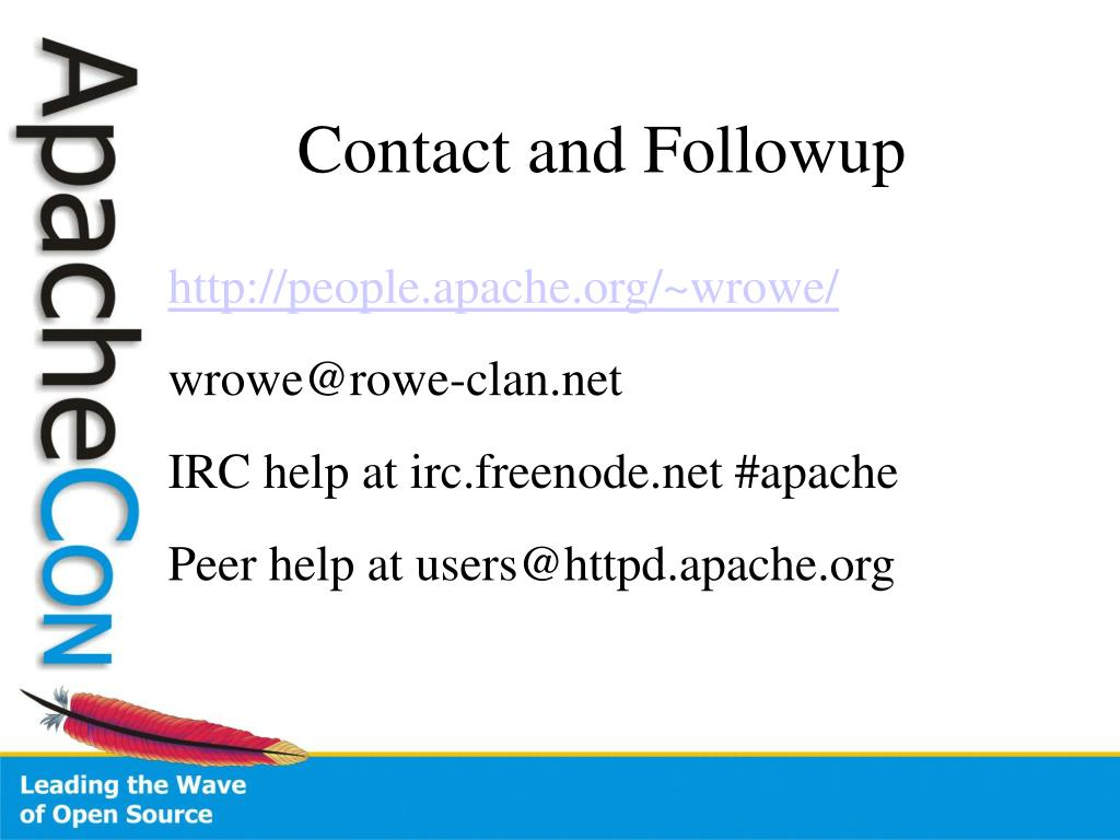 Contact and Followup
