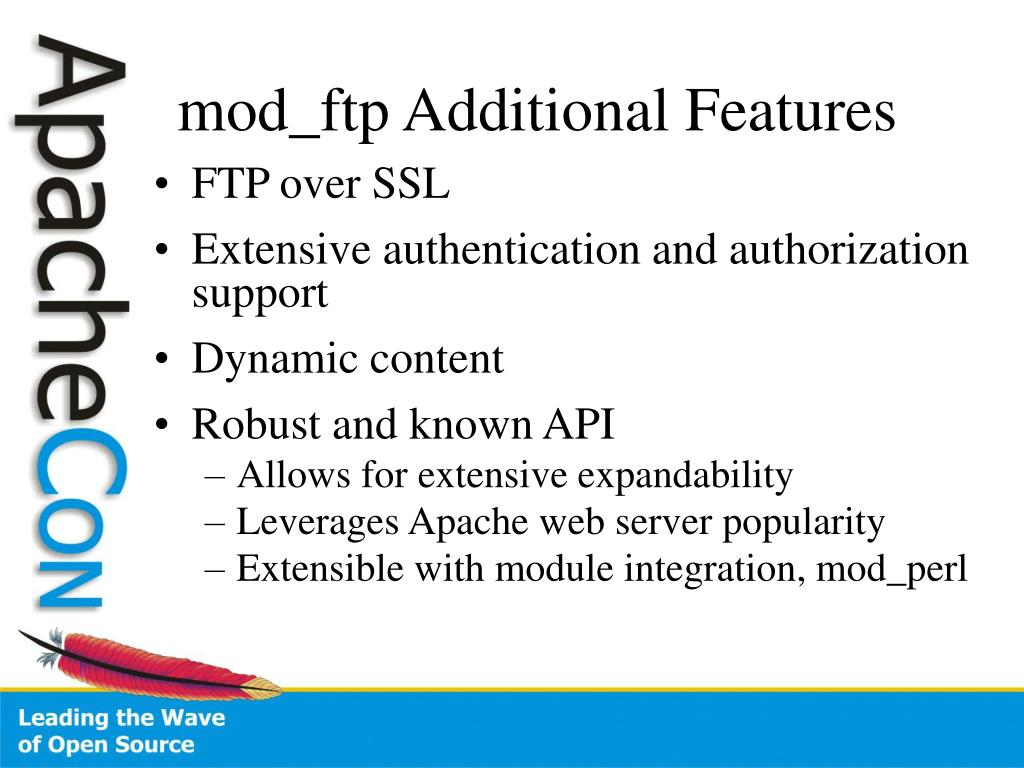 mod_ftp Additional Features