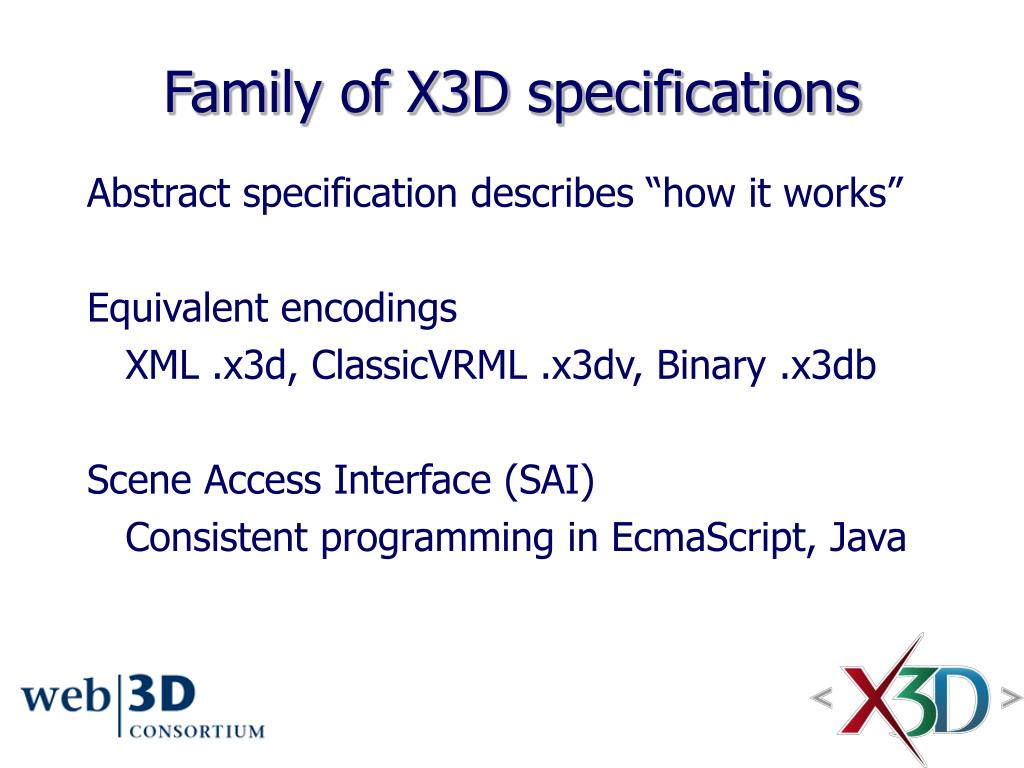 Family of X3D specifications