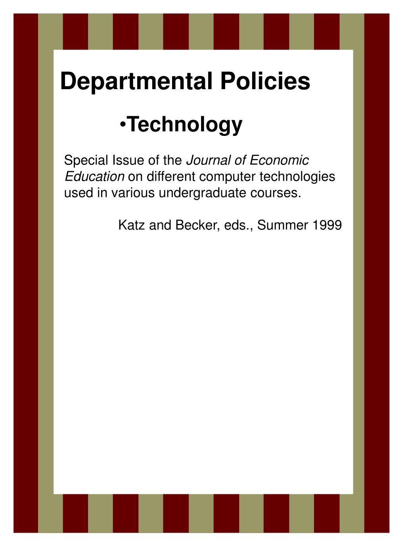 Departmental Policies
