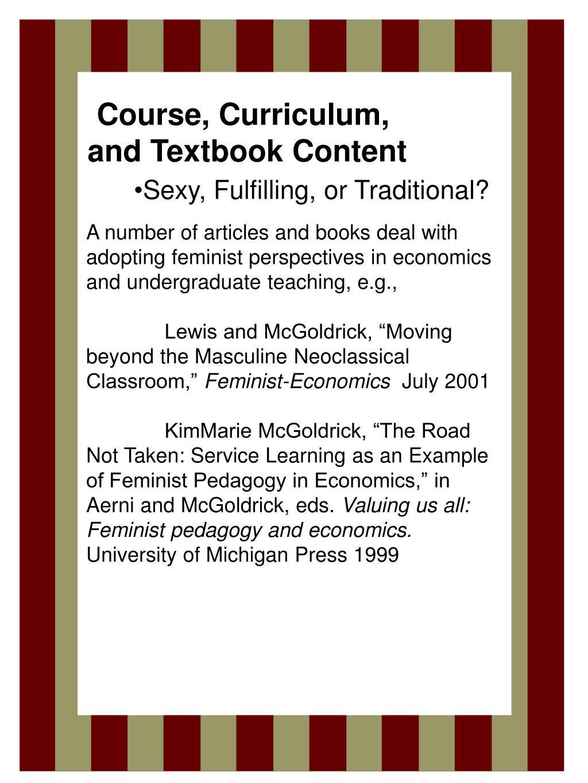 Course, Curriculum,