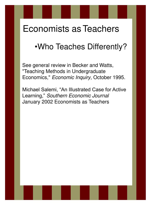 Economists as