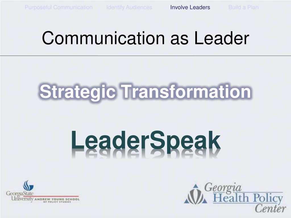 Communication as Leader