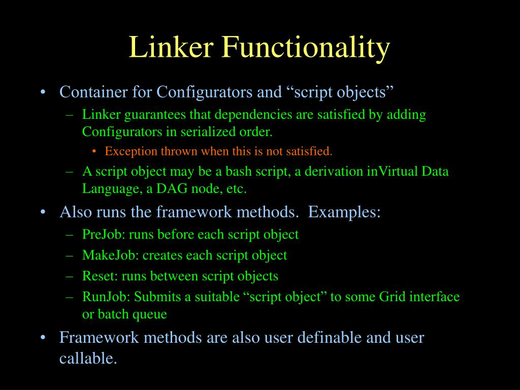 Linker Functionality