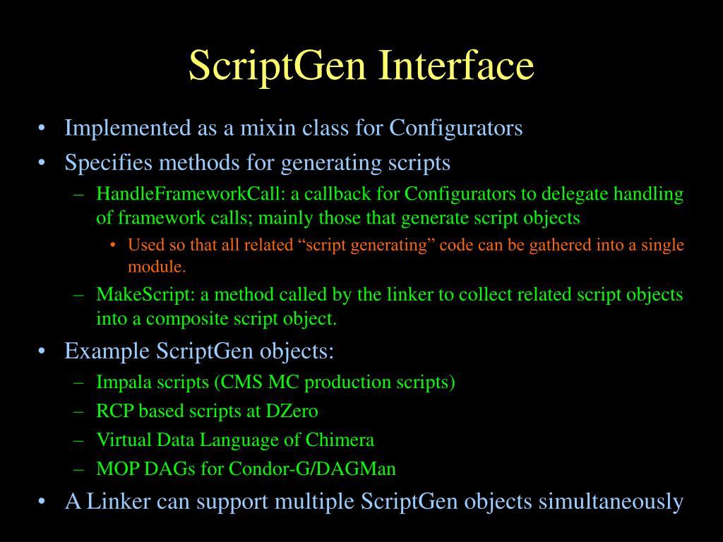 ScriptGen Interface