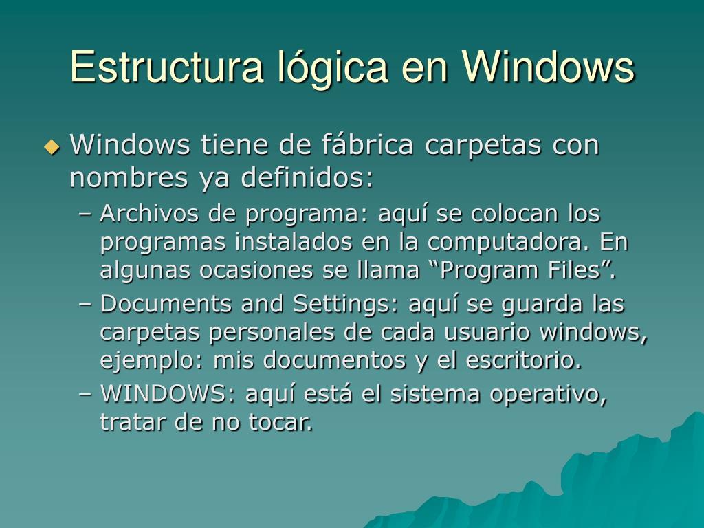 Estructura lógica en Windows