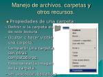 manejo de archivos carpetas y otros recursos10