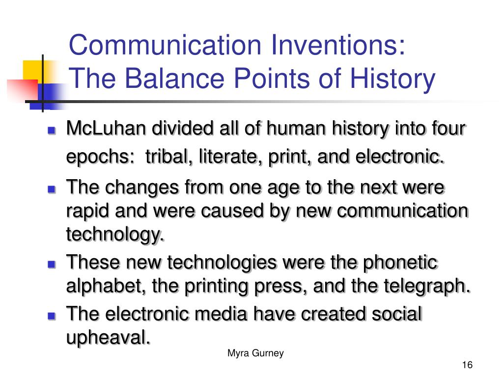 Communication Inventions: