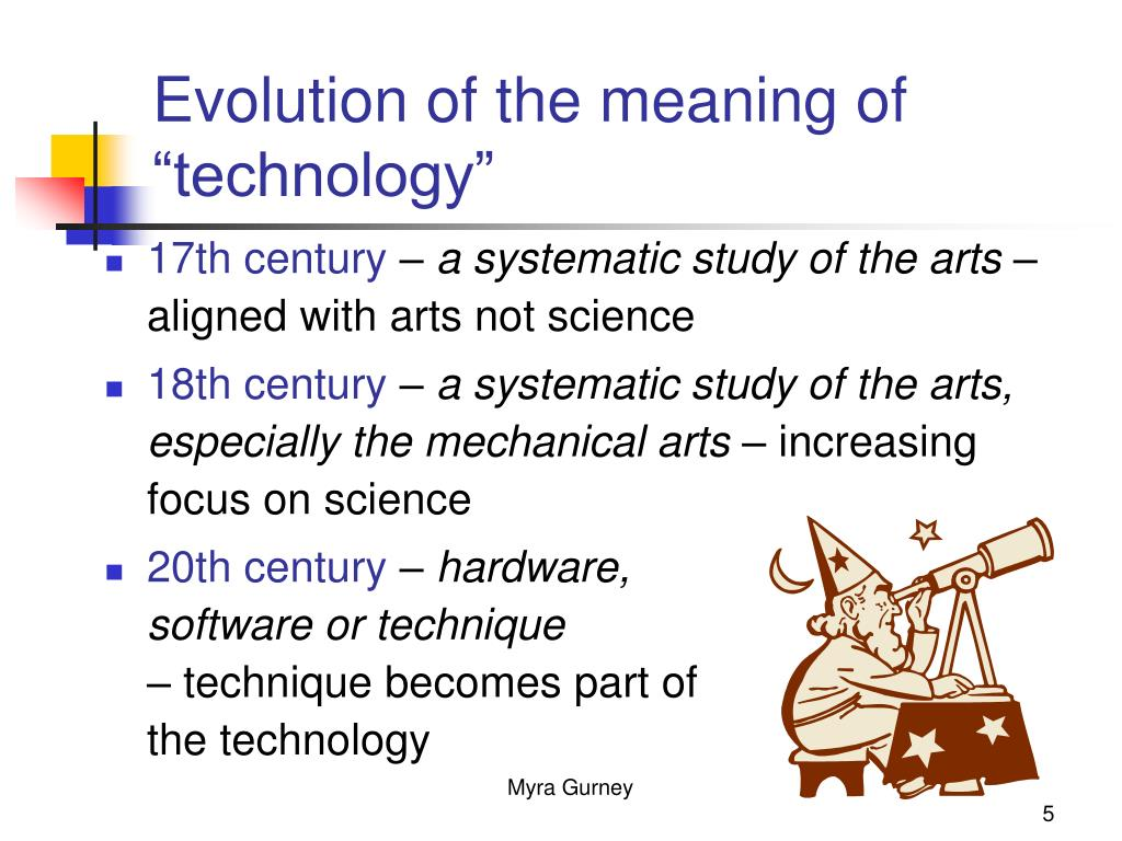 "Evolution of the meaning of ""technology"""