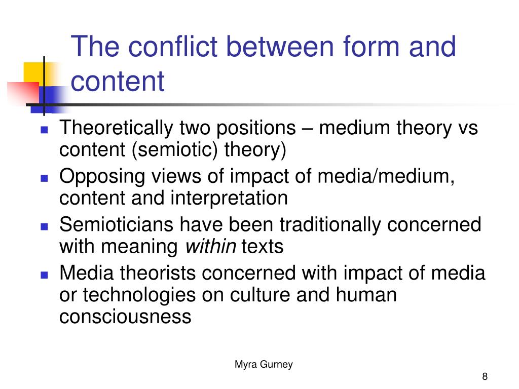 The conflict between form and content