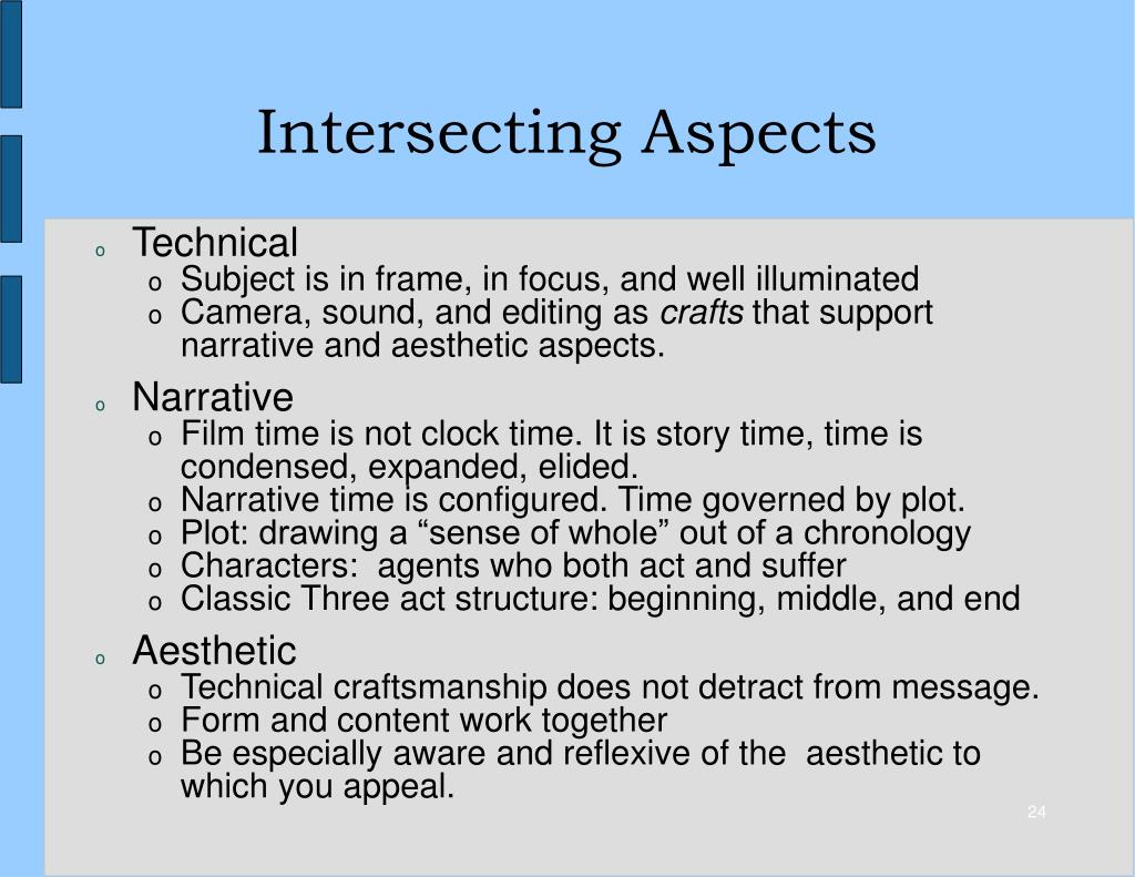 Intersecting Aspects