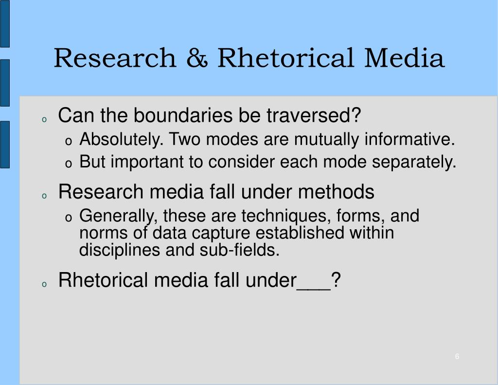 Research & Rhetorical Media