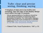 tufte clear and precise seeing thinking saying