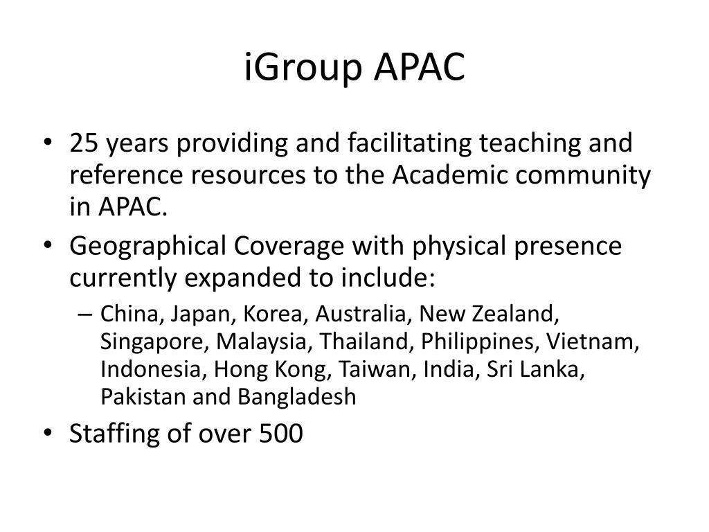 iGroup APAC