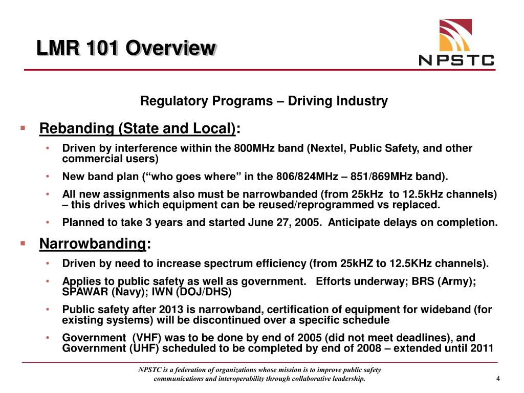 LMR 101 Overview
