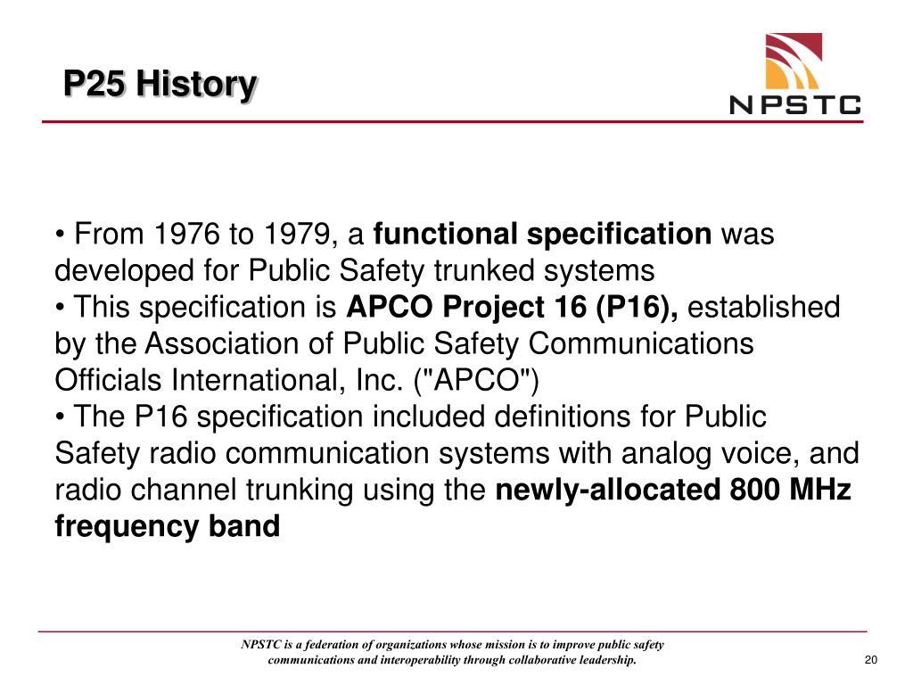 P25 History