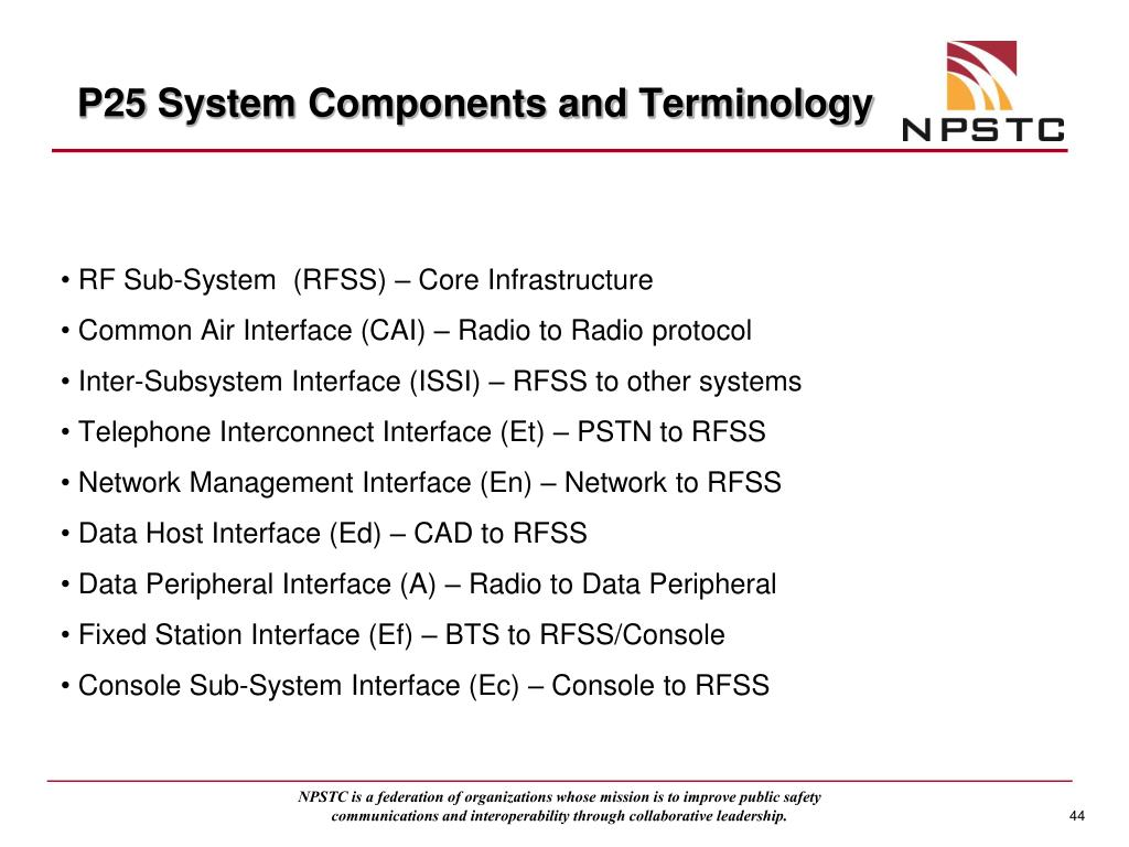 P25 System Components and Terminology