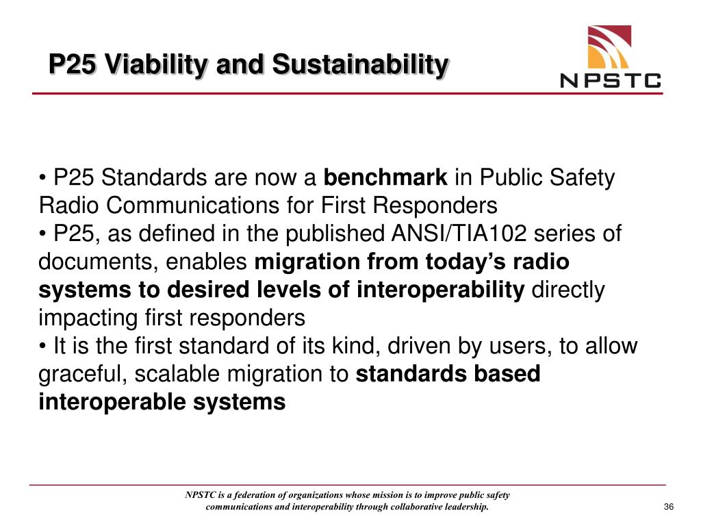 P25 Viability and Sustainability