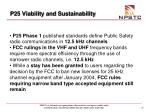 p25 viability and sustainability37