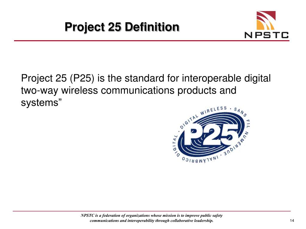 Project 25 Definition
