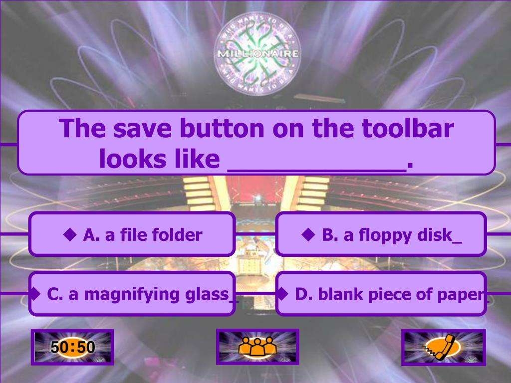 The save button on the toolbar looks like ___________.