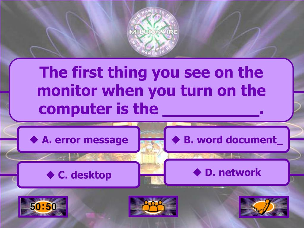 The first thing you see on the monitor when you turn on the computer is the __________.
