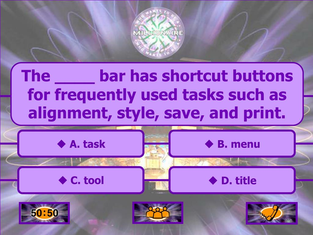The ____ bar has shortcut buttons for frequently used tasks such as alignment, style, save, and print.
