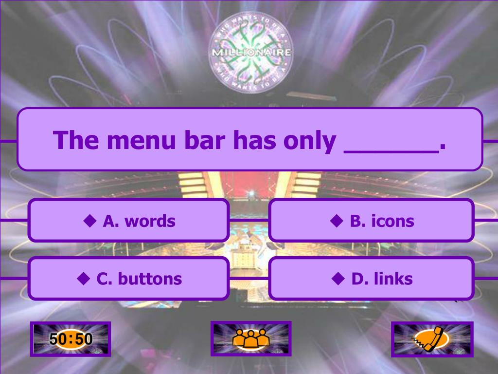 The menu bar has only ______.