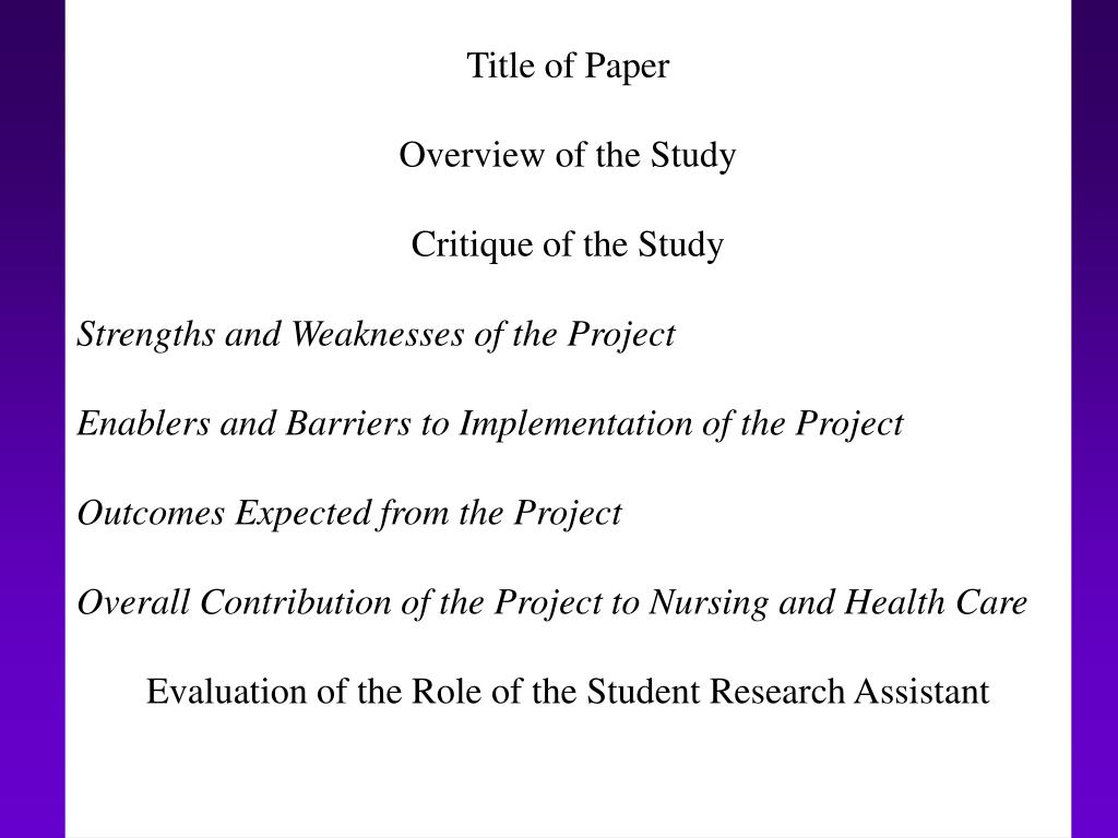 Title of Paper