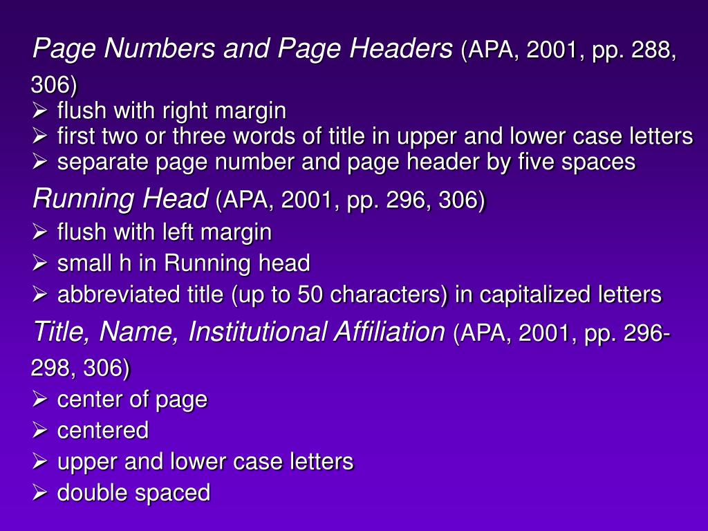 Page Numbers and Page Headers