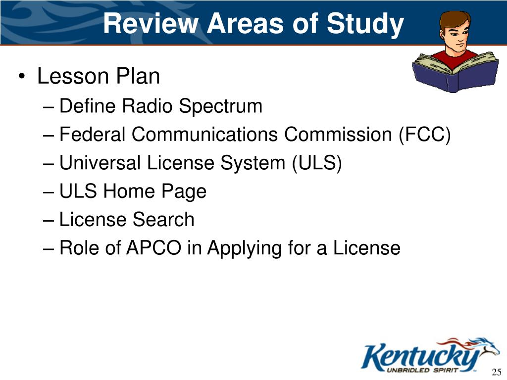 Review Areas of Study